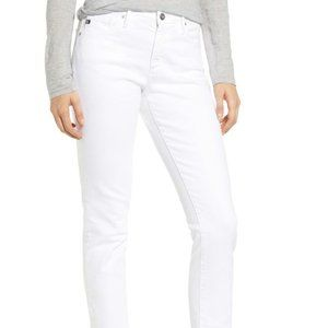 AG Adriano Goldschmied The Prima Crop White Jeans